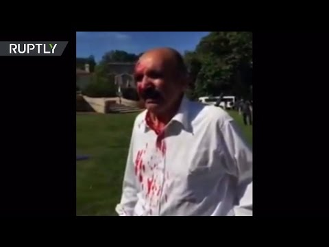Erdogan's body guards fight with protesters in Washington DC