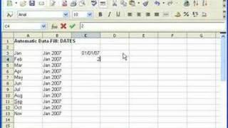 OpenOffice Calc Autofill Dates