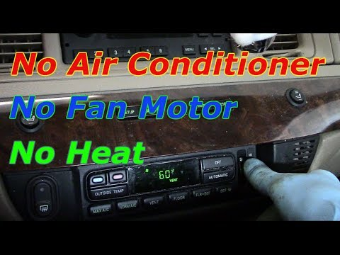 2005 town country no heat