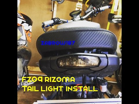 FZ 09 Rizoma Tail Light Install