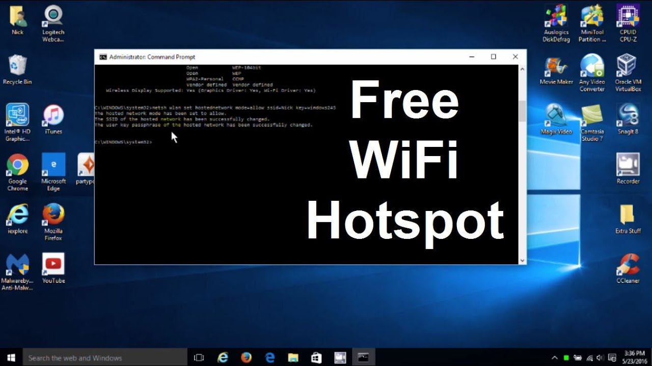 How to turn your Windows 10 laptop into a WiFi hotspot - Wireless