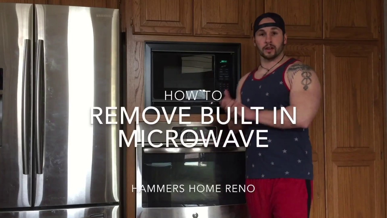 How To Remove Built In Microwave  YouTube