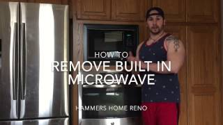 How To Remove Built In Microwave