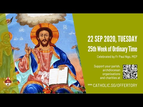 Catholic Weekday Mass Today Online - Tuesday, 25th Week of Ordinary Time