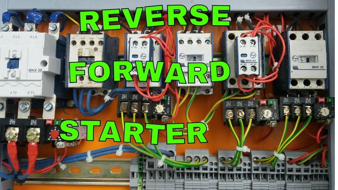 Reverse Forward Starter Control And Power Wiring Rdol Yk