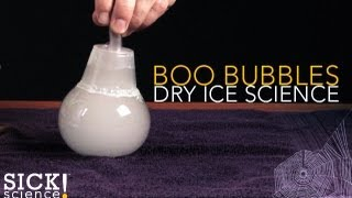 Boo Bubbles - Dry Ice Science - Sick Science! #108
