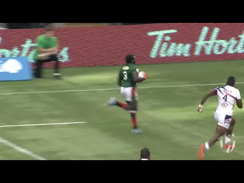 Oscar Ouma scores late try for Kenya