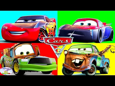 Wrong Heads Disney Cars 3 Finger Family McQueen Jackson Storm Surprise Egg and Toy Collector SETC