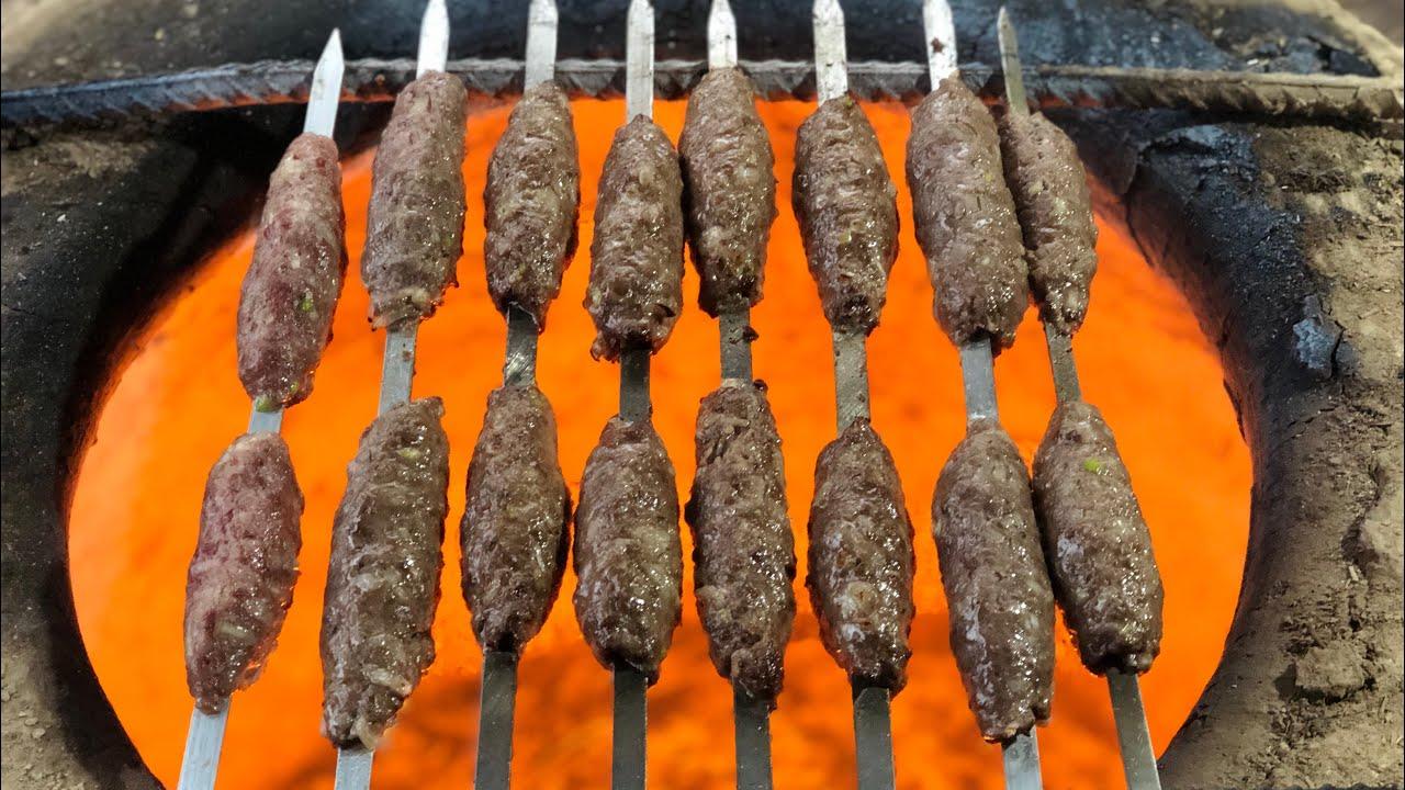 Съедают так быстро, что не успевают остыть! Узбекский люля кебаб! Узбекский плов!Узбекистан!