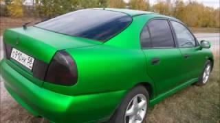 Полная оклейка Mitsubishi Carisma ( зеленый матовый хром)