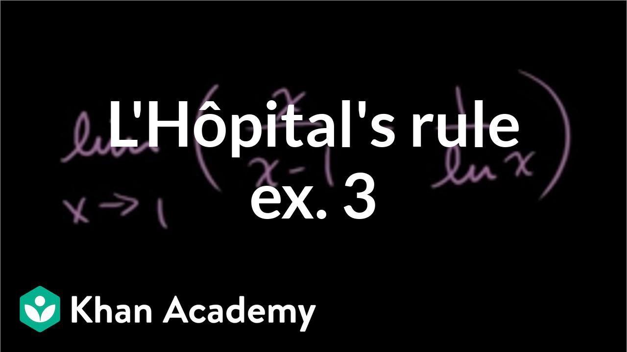 L'Hôpital's rule: challenging problem (video) | Khan Academy