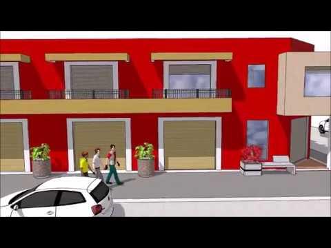 Planos de departamentos con locales comerciales youtube Modelo de casa con local comercial