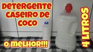 DETERGENTE CASEIRO DE COCO – O MELHOR