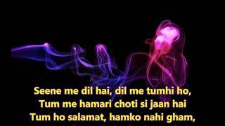 Tumse Accha Kaun Hai - Jaanwar - Full Karaoke Scrolling Lyrics