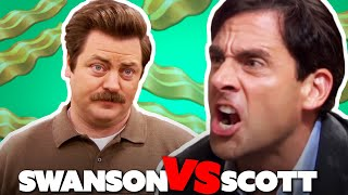 Ron Swanson Vs Michael Scott | The Office US Vs Parks and Recreation | Comedy Bites