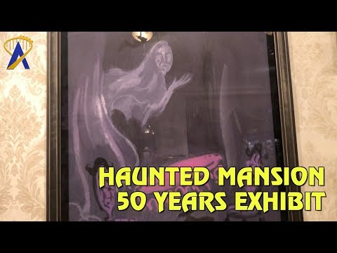 (24) Happy Haunts Materialize - Haunted Mansion 50th Anniversary Exhibit at Disneyland - YouTube