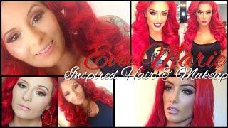 WWE Eva Marie Inspired Hair & Makeup!