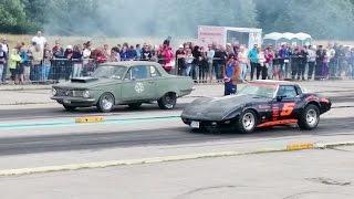'79 Chevrolet Corvette vs '64 Plymouth Valiant 400ci 1/4mile drag race