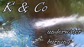 Горение коллоксилина под водой | Kolloksilin burn under water