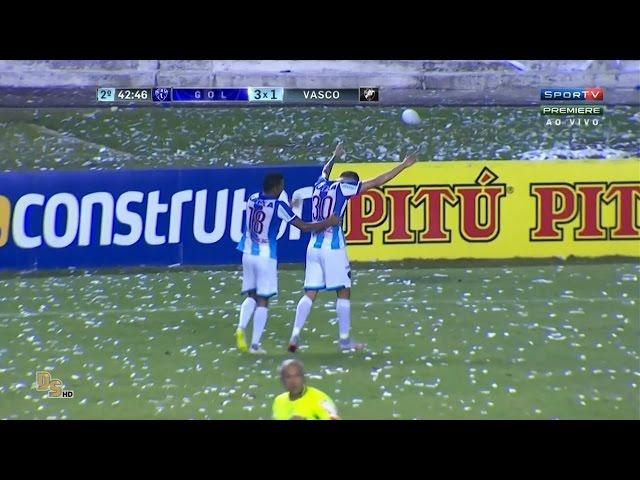 Gols - Paysandu 3 x 1 Vasco - Brasileirão 2016 Série B