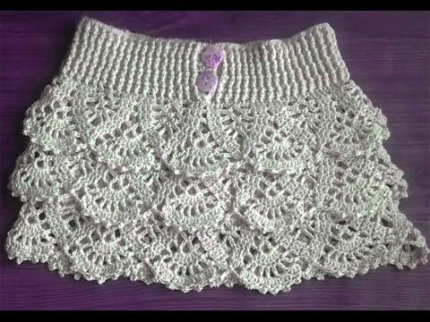 Falda volantes a crochet 2ª parte