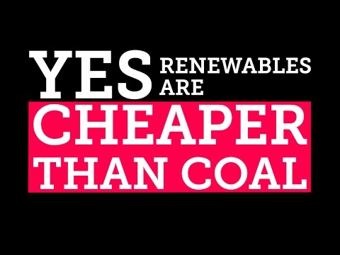 Renewables: clean AND cheaper than coal