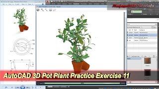 AutoCAD 3D Modeling | Pot Plant Tutorial | Exercise 11