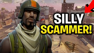 Silly Psycho Scammer Scams Himself! (Scammer Get Scammed) Fortnite Save The World thumbnail