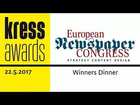 ENC17 - kress Award presentation - Winners Dinner of European Newspaper Congress 2017