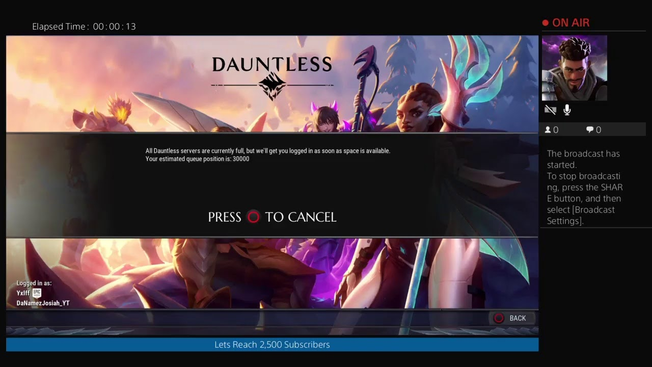 Dauntless Servers Already Full? Im 30,000 In Que - YouTube