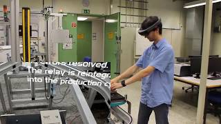 IoT Assistance in a Smart Factory  using Microsoft HoloLens with Mixed Reality