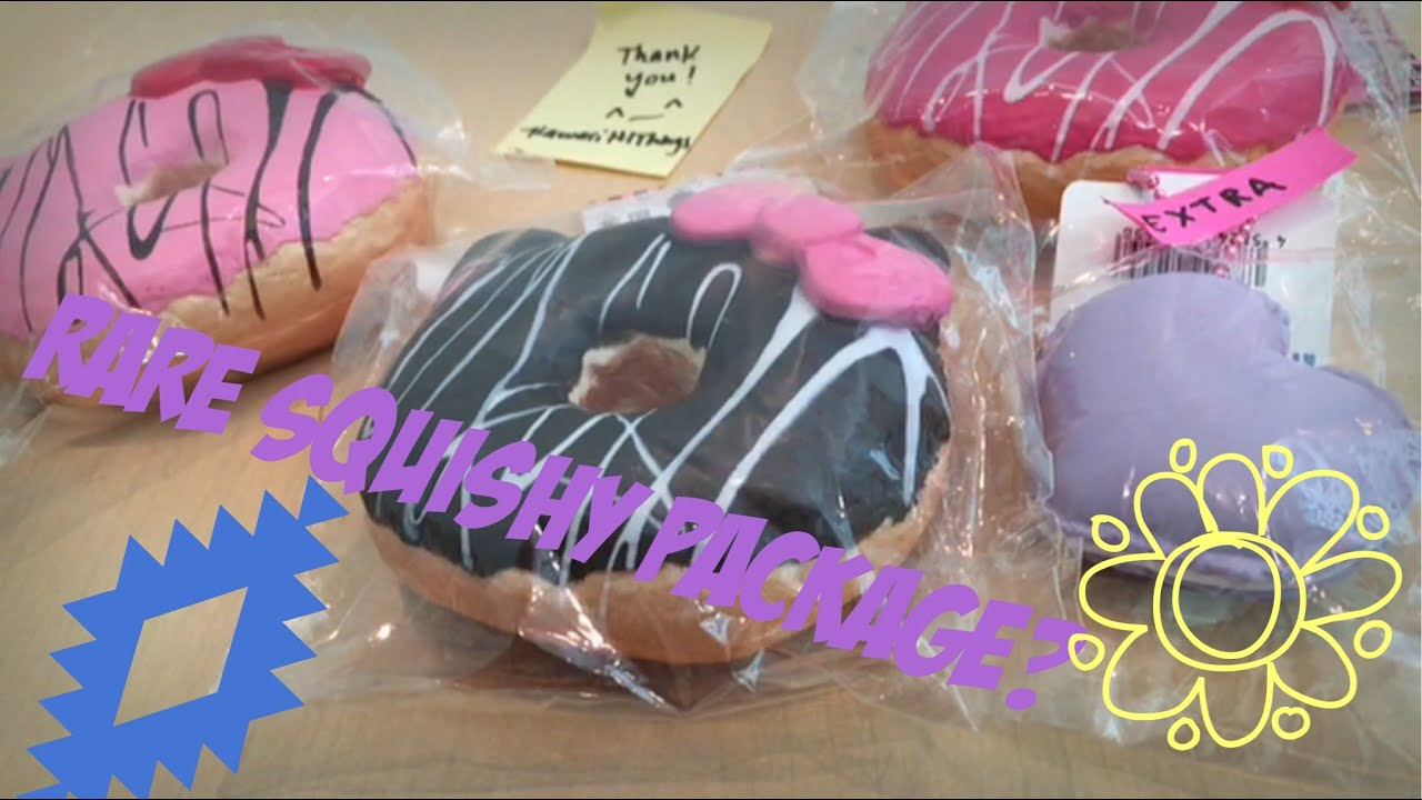 Rare Squishy Package : Rare squishy package from kawaiihithings - YouTube