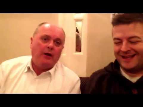 Dad and Richard at Amina having another odd dad conversation