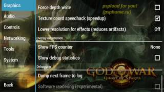 setting ppsspp game god of war-ghost of sparta for android/ios/pc fresh