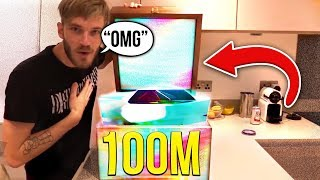 Pewdiepie Responds To His 100 Million Subscriber Play Button (emotional)
