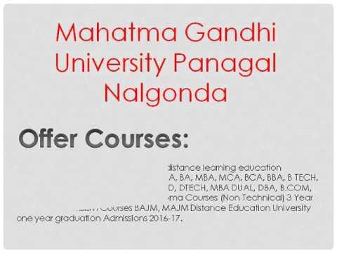 Mahatma Gandhi University Distance Education Panagal Nalgonda