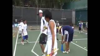 Теннис обучение подачи