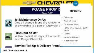2015 Chevrolet Spark Wentzville Mo ZJ28A