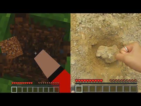 เกมมายคราฟ กับ ชีวิตจริง - Minecraft And real life