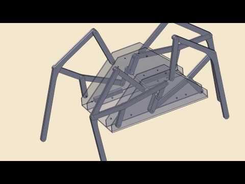 Six-bar Linkage Mechanical Walker