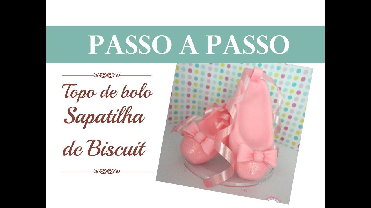 b455cd8135 Topo de bolo Sapatilha passo a passo - YouTube