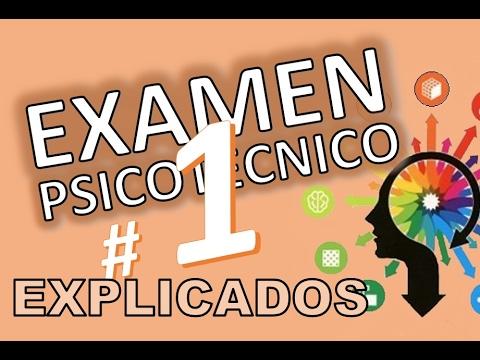 TEST PSICOTECNICOS OMNIBUS # 1 VARIADOS DE EXAMEN EXPLICADOS En español