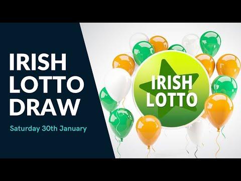 Irish Lotto Draw - Saturday 30th January