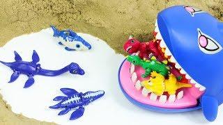 바다속 공룡메카드 3총사 플레시오 옵탈모 크로노 상어 배틀 장난감 놀이 Dino Mecard Tiny Saur Battle Toys