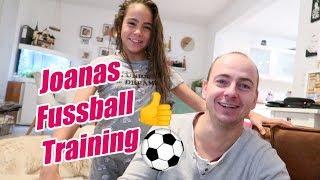 Joanas erstes Fussball Training - Mädchen Fussball - #Vlog 1061 Rosislife