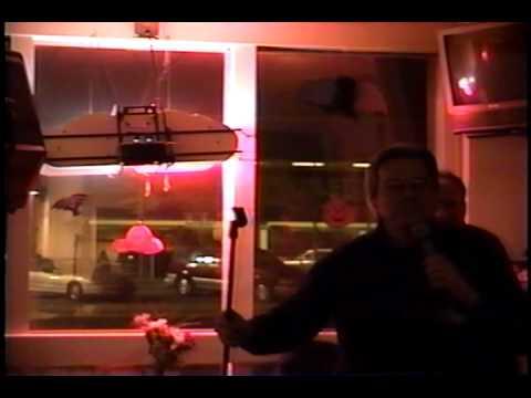 Oscar sings Karaoke at  Old  Hilarities 2003