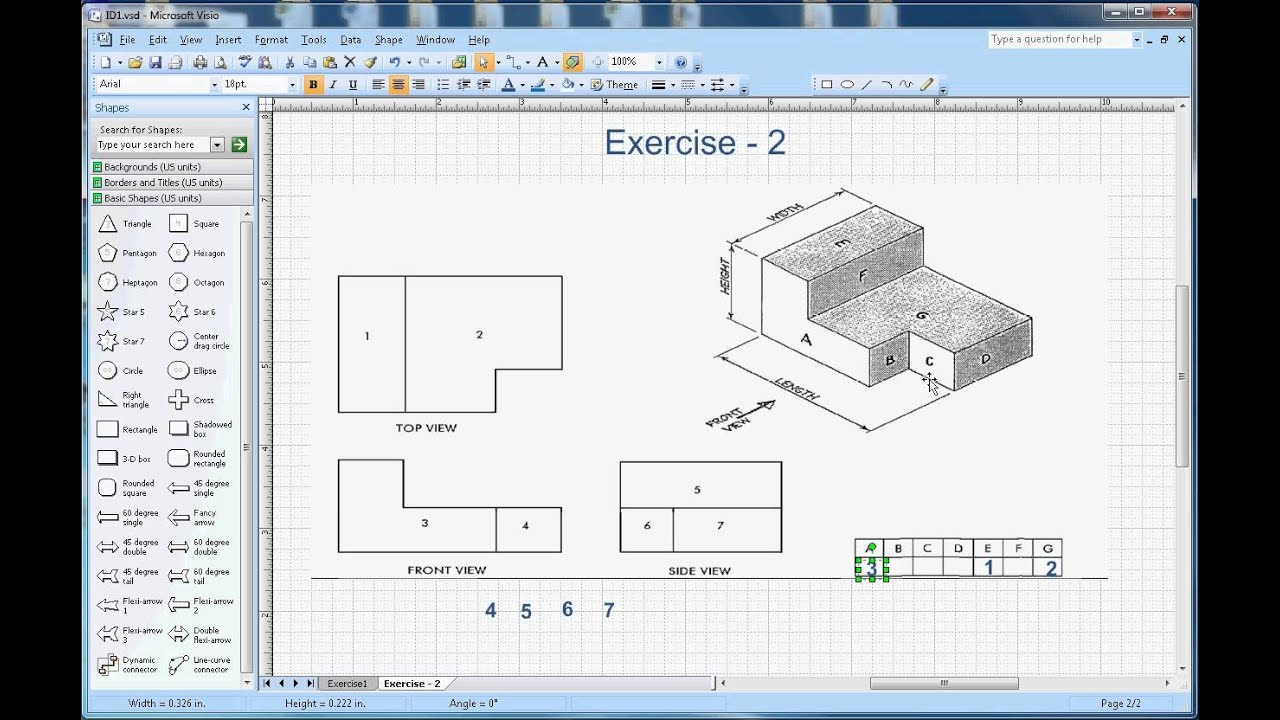 hight resolution of Isometric Drawing Exercises With Answers