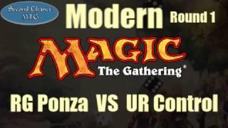 UR Control VS RG Ponza - Round 1 Featured Modern Match Second Chance MTG