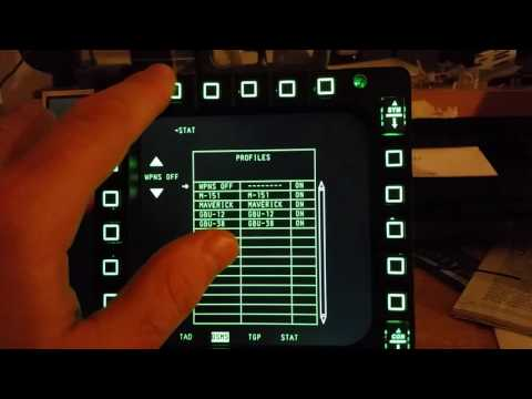 Thrustmaster MFD Cougar LCD test in DCS World