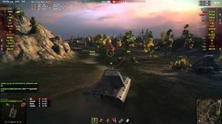 E100 gameplay - Ace Tanker - World of Tanks - 9.9 XVM mod pack